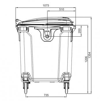 Контейнер пластиковий євростандарт, плоска кришка. MGB1100 - Фото №4
