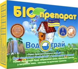 Біопрепарат Водограй для вигрібних ям, септиків і вуличних туалетів 20 гр. Водограй20