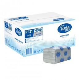 Бумажные полотенца листовые, V-укладка, макулатурные. p121.