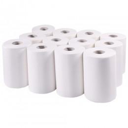 Бумажные полотенца, ролевые (рулонные), MINI, белые.  143000.