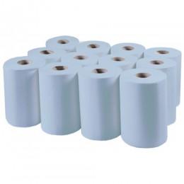Бумажные полотенца, ролевые (рулонные) MINI, синие. P148.