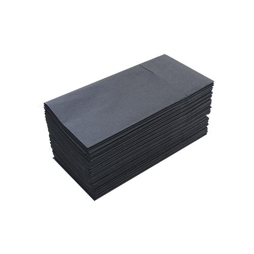 Салфетки столовые Pocket 1/8 двухслойные 40х40 (45 шт.) черные. T2408T/N - Фото №1