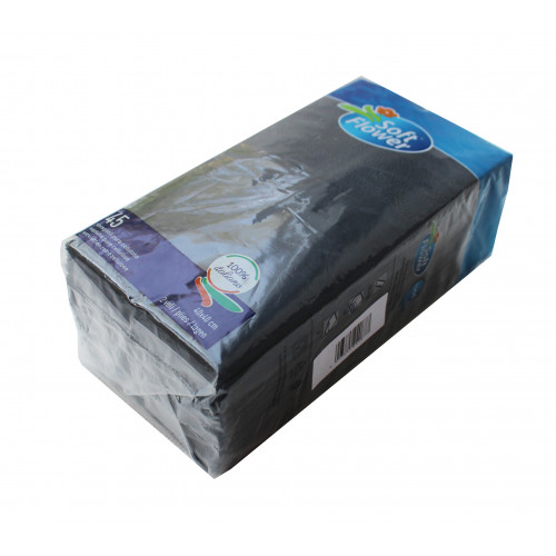 Салфетки столовые Pocket 1/8 двухслойные 40х40 (45 шт.) черные. T2408T/N - Фото №2