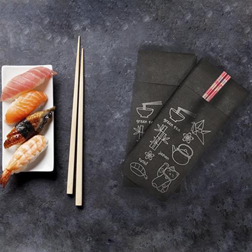 Салфетки столовые Pocket 1/8 двухслойные 40х40 (45 шт.) черные. T2408T/N - Фото №4