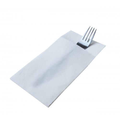 Серветки столові Pocket 1/8 двошарові 40х40 (45 шт.) білі.  T2408T - Фото №2