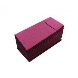 Серветки столові Pocket 1/8 двошарові 40х40 (45 шт.) бордові.  T2408T/BORD