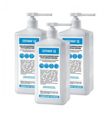 Антибактеріальні гігієнічні засоби для шкіри рук і тіла, та для обробки поверхонь. - Фото